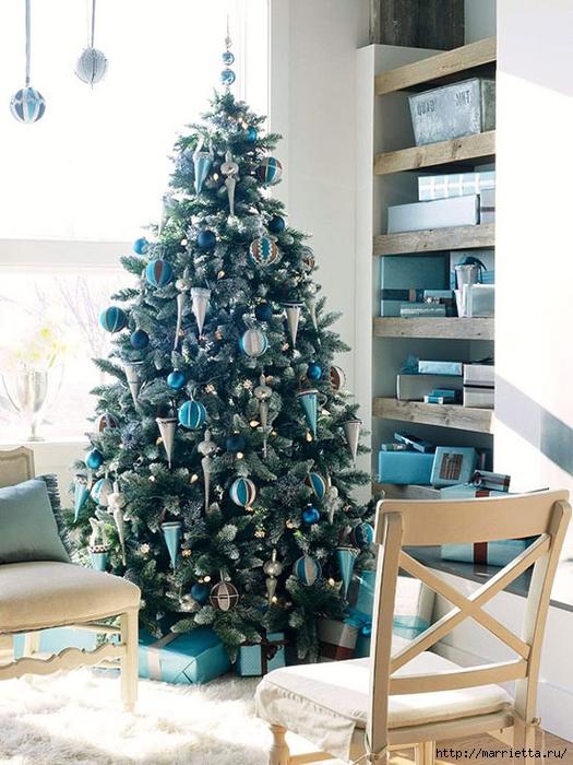 Самые красивые рождественские идеи. Елки в интерьере (39) (525x700, 294Kb)