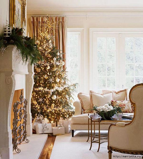 Самые красивые рождественские идеи. Елки в интерьере (41) (600x667, 289Kb)