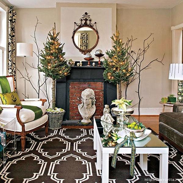 Самые красивые рождественские идеи. Елки в интерьере (43) (600x600, 314Kb)
