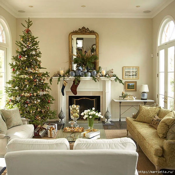 Самые красивые рождественские идеи. Елки в интерьере (45) (600x600, 235Kb)