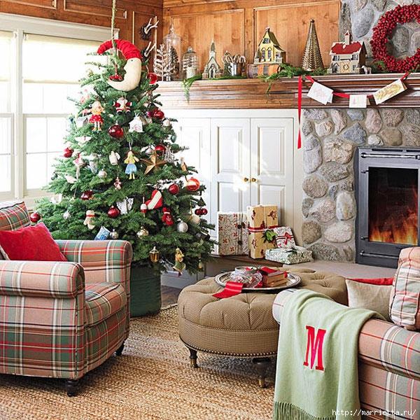 Самые красивые рождественские идеи. Елки в интерьере (47) (600x600, 358Kb)
