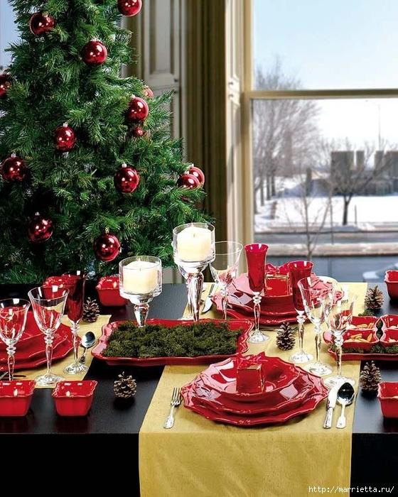 Самые красивые рождественские идеи. Елки в интерьере (51) (560x700, 350Kb)