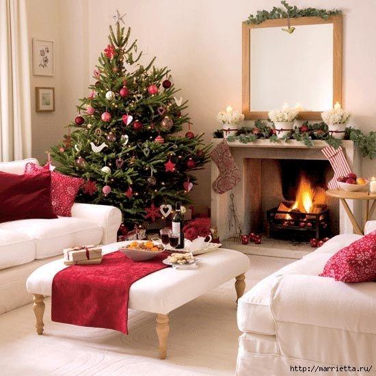 Самые красивые рождественские идеи. Елки в интерьере (53) (550x550, 177Kb)