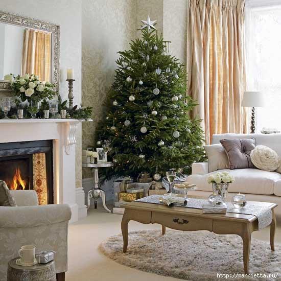 Самые красивые рождественские идеи. Елки в интерьере (55) (550x550, 166Kb)