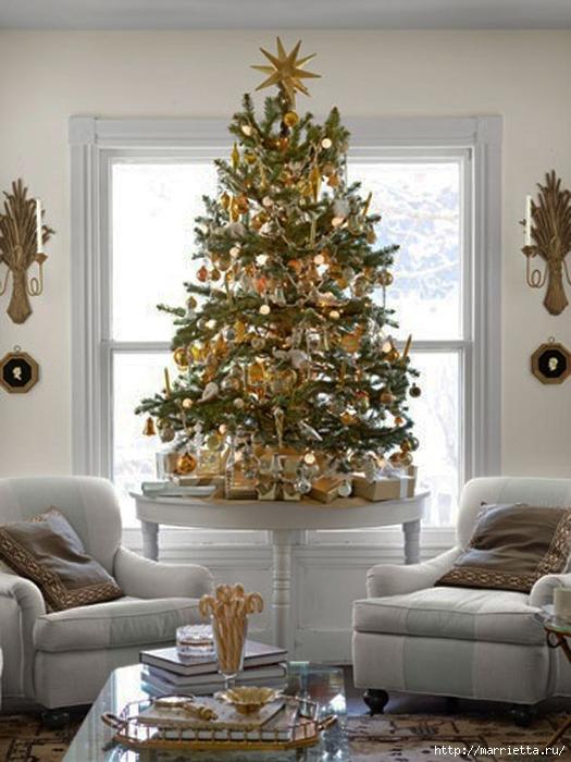 Самые красивые рождественские идеи. Елки в интерьере (59) (525x700, 251Kb)
