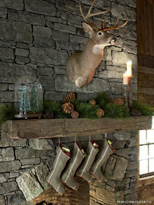 Самые красивые рождественские идеи. Елки в интерьере (61) (525x700, 294Kb)