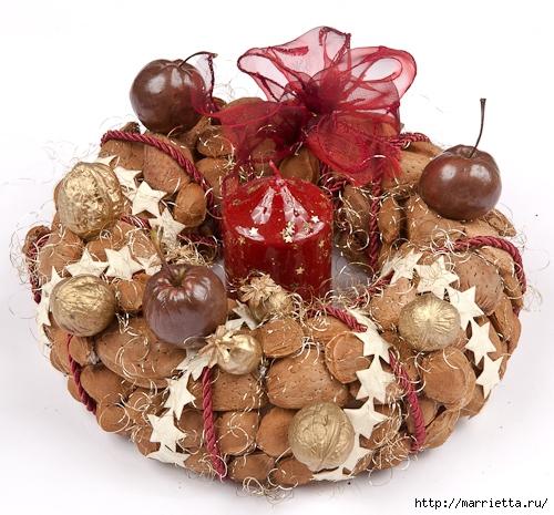 рождественский венок из грецких орехов (23) (500x465, 215Kb)