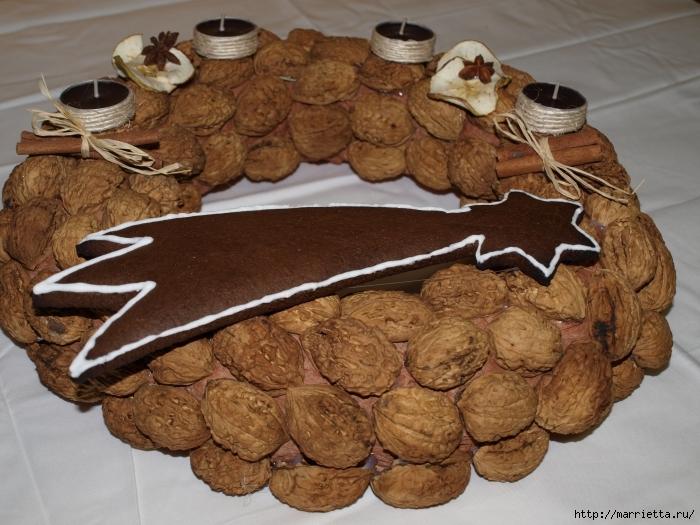 рождественский венок из грецких орехов (28) (700x525, 306Kb)