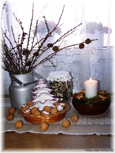 рождественский венок из грецких орехов (30) (488x650, 234Kb)