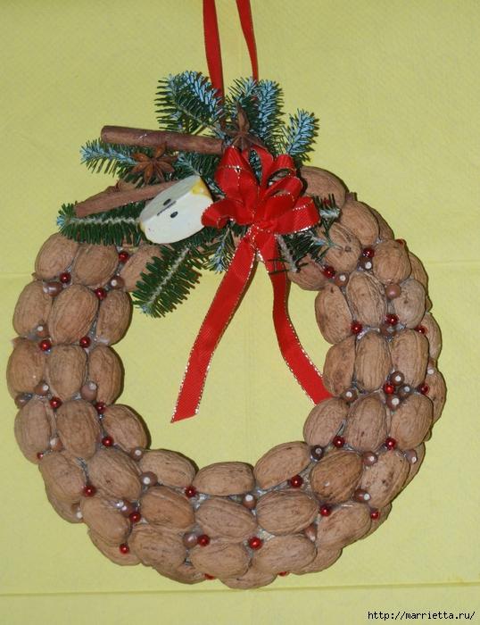 Новогодние поделки из грецких орехов фото