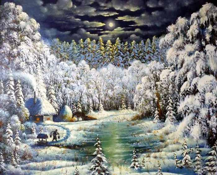 Владимир Марков. Зимняя сказка (700x565, 70Kb)