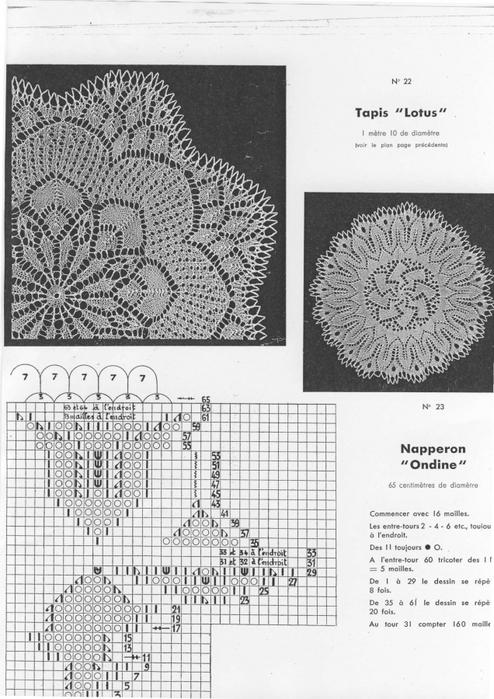 схемы вязания салфеток,