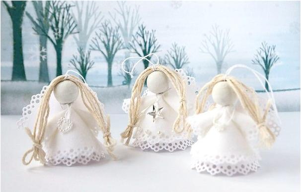 Рождественские ангелочки из бумаги и