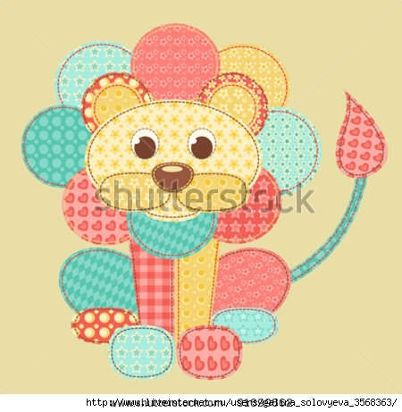 stock-vector-children-s-application-lion-patchwork-series-vector-illustration-91699862 (450x461, 121Kb)