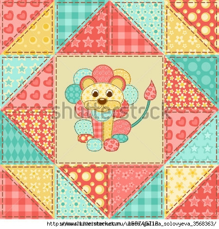 stock-vector-lion-vintage-patchwork-seamless-pattern-vector-background-159745712 (450x470, 208Kb)