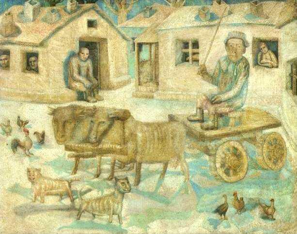 Фил Быки.Сцена из сельской жизни 1918 (613x483, 66Kb)