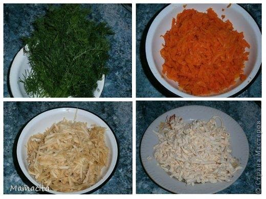 Грибной салат в праздничном оформлении (2) (520x390, 140Kb)