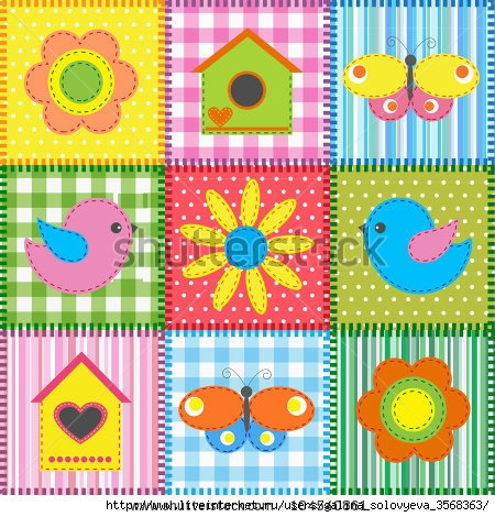 stock-photo-patchwork-with-birds-and-birdhouses-raster-version-104540861 (450x470, 208Kb)