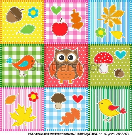 stock-vector-autumn-background-with-leaves-acorns-birds-and-owl-111698906 (450x470, 218Kb)