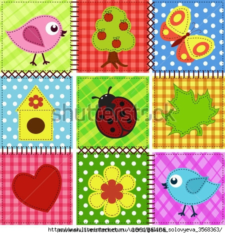stock-vector-patchwork-with-birds-and-birdhouses-baby-seamless-background-106186406 (450x470, 227Kb)