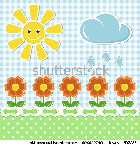 stock-vector-spring-fabric-background-with-sun-and-flowers-124122790 (450x470, 158Kb)