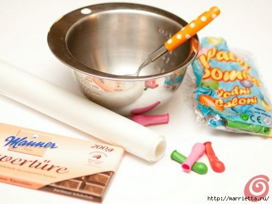 Шоколадные вазочки для мусса из белого шоколада. Праздничный десерт (1) (530x398, 108Kb)