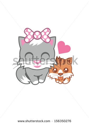 stock-vector-grey-mother-and-her-kittens-156350276 (338x470, 38Kb)