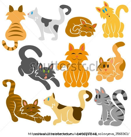 stock-vector-set-of-cute-different-vector-cats-146677649 (450x470, 119Kb)