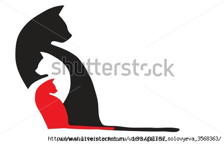 stock-vector-three-cats-look-in-different-directions-136402787 (450x290, 33Kb)