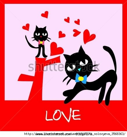 stock-vector-valentine-s-day-card-two-black-cat-kitten-with-love-heat-pink-background-93617071 (437x470, 80Kb)