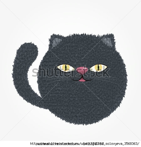 stock-vector-vector-illustration-russian-blue-cat-142370797 (450x470, 68Kb)