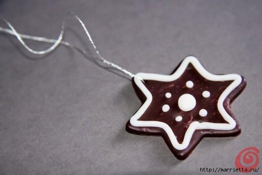 Рождественские звезды из полимерной глины (5) (530x354, 79Kb)