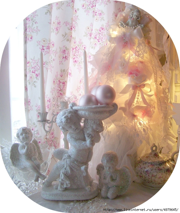 glitter cherubs tree (592x700, 301Kb)