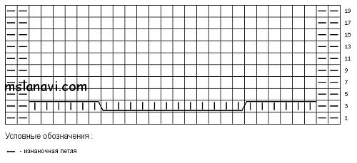 вязаная-шапка-спицами-схема (500x229, 18Kb)