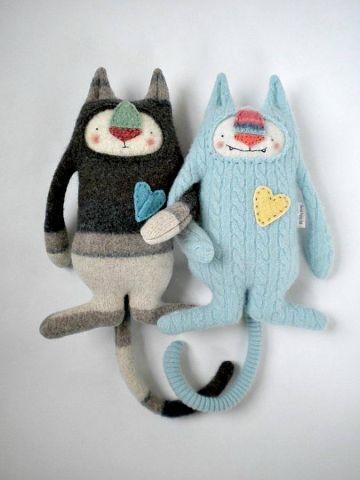 игрушка из старого свитера