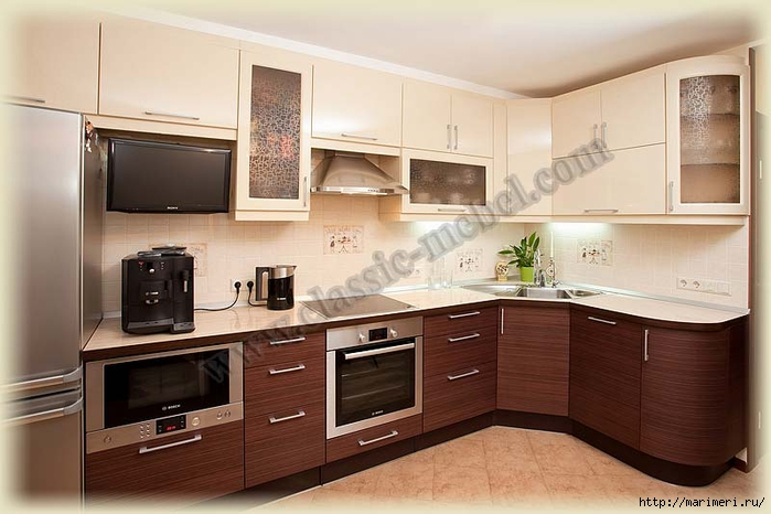 Дизайн кухни с телевизором фото