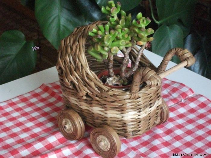 Коляска - кашпо для цветов (1)