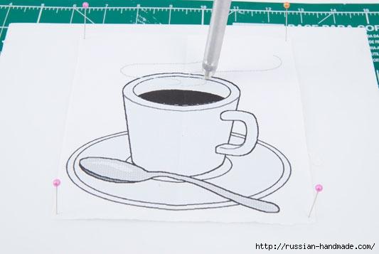 Коробочка для чайных пакетиков. Пэчворк без иголки (4) (533x357, 66Kb)