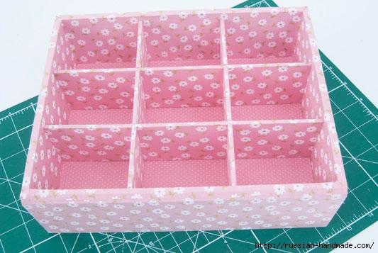 Коробочка для чайных пакетиков. Пэчворк без иголки (8) (533x357, 141Kb)