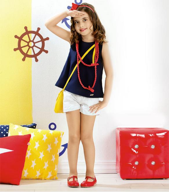Летние шорты для девочки. Выкройка для возраста 6 лет (583x659, 647Kb)