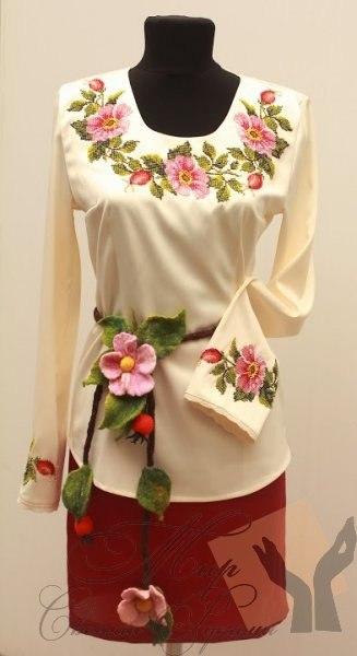Как сшить блузку с вышивкой
