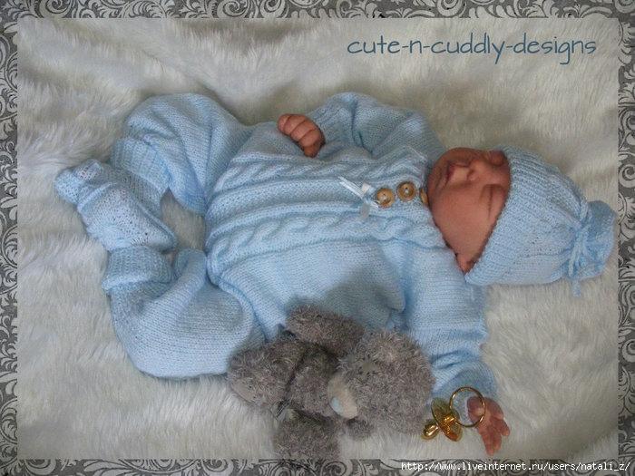 Мастер-класс по вязание новорожденным 251