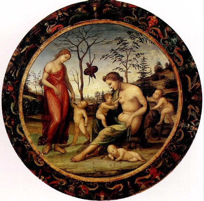 Бацци Любовь земная и небесная с Антеросом, Эросом и двумя купидонами, известна как Аллегория любви (700x688, 152Kb)