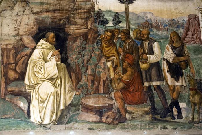Бенедикт наставляет крестьян в истинной вере (700x468, 129Kb)