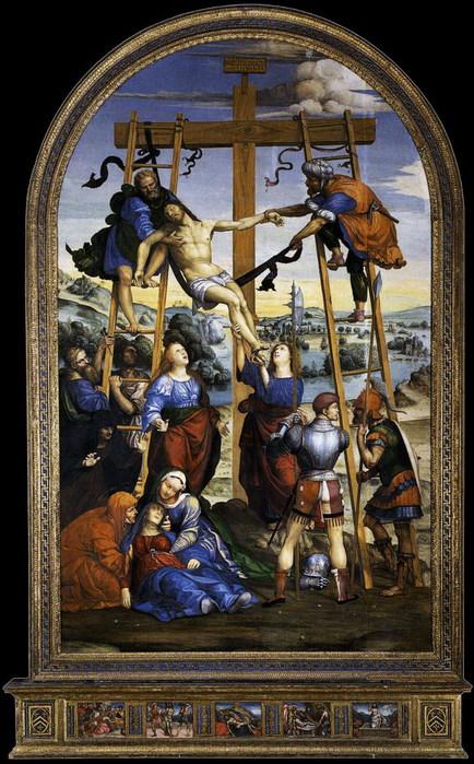 Deposition from the Cross   1510-1513  Национальная Пинакотека  Сиена (434x700, 127Kb)