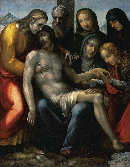 Содома. Джованни Антонио Бацци . Пьета  1533 (543x700, 106Kb)