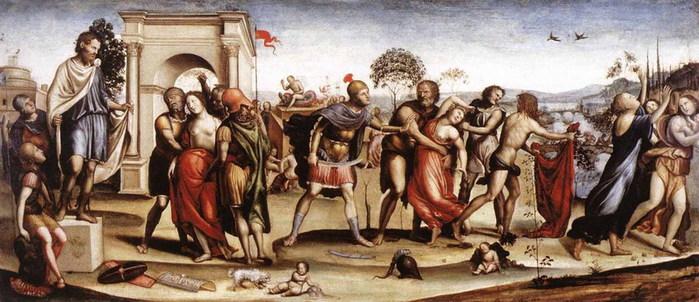 Похищение сабинянок  1525  Рим Национальная галерея античного искусства (700x302, 89Kb)
