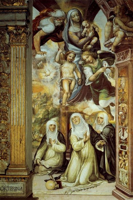 Экстаз св. Екатерины  Фреска  1526  ц. Сан Доменико  Сиена (467x700, 140Kb)