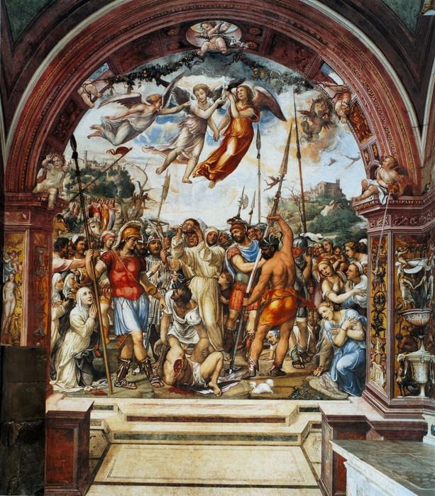 Казнь Николо ди Тульдо. 1526    ц. Сан Доменико, Сиена (613x700, 193Kb)