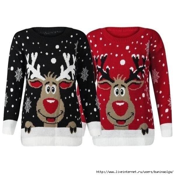 свитер с оленями - Самое